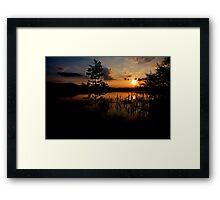 Sunset at Lake Kochelsee 03 Framed Print