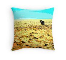 Gone Fishing ~ Buffalo Creek ~ Northern Territory Throw Pillow