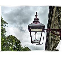 Gas Light-Oxenhope  Station . Poster