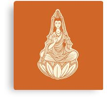 Healing concept. Chinese goddess of charity vector illustration. Charity concept. Medical care. Chinese god. Meditation. Canvas Print