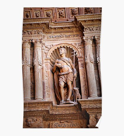 Saint John the Baptist in relief Poster