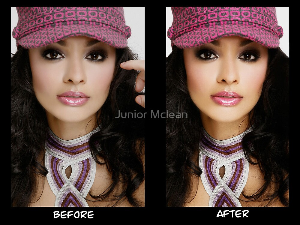 Model Photo Edit: Before and After by Junior Mclean