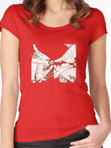 White flags Women's Fitted Scoop T-Shirt