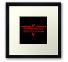 Jokerfied Batman Symbol Framed Print