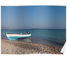 Boat at Elafonisi, Crete Poster