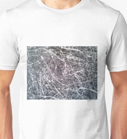 Grey Jackson-Pollock-inspired painting Unisex T-Shirt