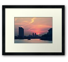 Sunset over Thames  Framed Print