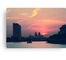 Sunset over Thames  Canvas Print
