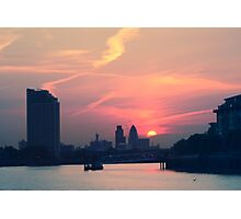 Sunset over Thames  Photographic Print