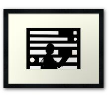 Step into the light  Framed Print