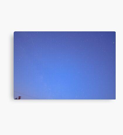 Iridium Flare passes in the night sky Canvas Print