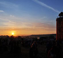 The Ribbon Tower by Sunset, Glastonbury by Steve Briscoe