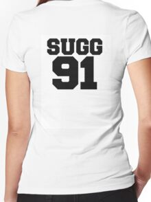 SUGG BASEBALL TEE Women's Fitted V-Neck T-Shirt