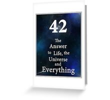 42 is the Answer Greeting Card