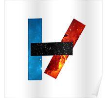 Twenty One Pilots Logo (Galaxy Print) Poster