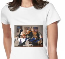 My paintings on the scene of Xiomara Fortuna concert Womens Fitted T-Shirt