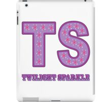 My little Pony - Initials Twilight Sparkle - White iPad Case/Skin