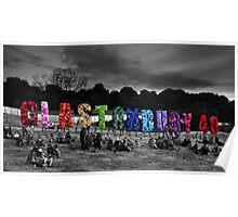 Happy Birthday Glastonbury Poster