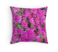 Pink, Pink, and More Pink Throw Pillow