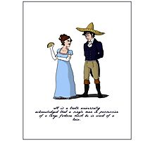 Pride and Prejudice and Tacos Photographic Print