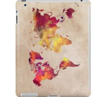 Map of the world Red World iPad Case/Skin