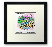 Postcard From Computer Camp by Londons Times Cartoons Framed Print