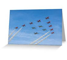 Red Arrows and Eagle Squadron Team Greeting Card