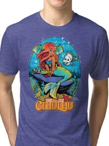 The Little Cthulhu Tri-blend T-Shirt