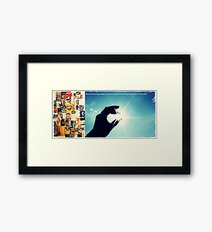 Letters from the sky Framed Print