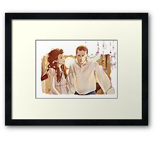 Snow and Charming Framed Print