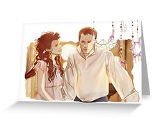 Snow and Charming Greeting Card