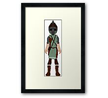 Skyrim 8-bit Morthal Guard Framed Print