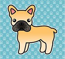 Fawn French Bulldog Dog Cartoon by destei
