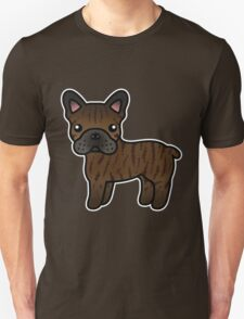 Brindle French Bulldog Dog Cartoon T-Shirt