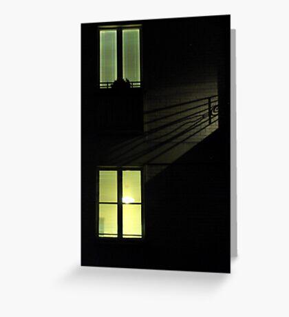 Paris - Rear window. Greeting Card