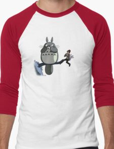 Totoro and the Doctor's Midnight Musicale Men's Baseball ¾ T-Shirt