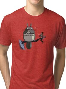Totoro and the Doctor's Midnight Musicale Tri-blend T-Shirt