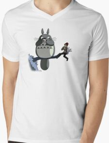 Totoro and the Doctor's Midnight Musicale Mens V-Neck T-Shirt