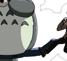 Totoro and the Doctor's Midnight Musicale Sticker