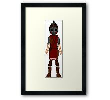 Skyrim 8-bit Solitude Guard Framed Print