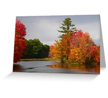 Autumn on the Little Androscoggin (Please View Large) Greeting Card
