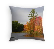 Autumn on the Little Androscoggin (Please View Large) Throw Pillow