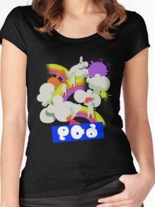 Splatfest Team Pop v.4 Women's Fitted Scoop T-Shirt