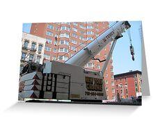 New York City Crane Greeting Card