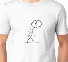 Thinking of Music Unisex T-Shirt