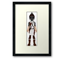 Skyrim 8-bit Winterhold Guard Framed Print