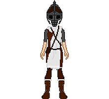 Skyrim 8-bit Winterhold Guard Photographic Print
