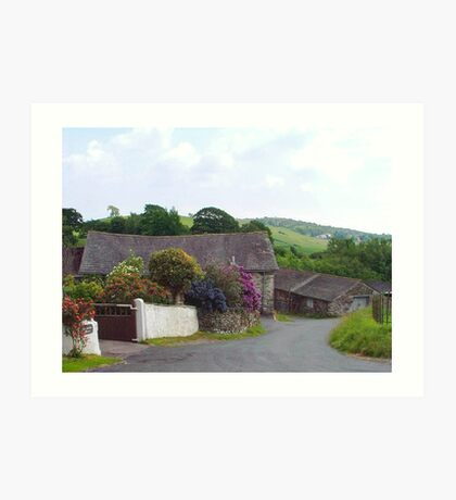 Barn at Bandrake Farm. Cumbria, England. Art Print