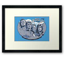 Mt. Awesome Framed Print