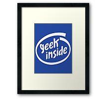 Geek Inside - White Framed Print